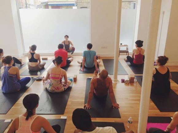 """A donation-based """"karma yoga class"""" I taught at Union Station Yoga in April. We raised more than £200 that night!"""